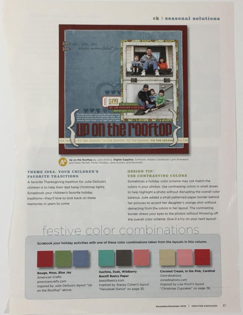 Creating Keepsakes festive palette