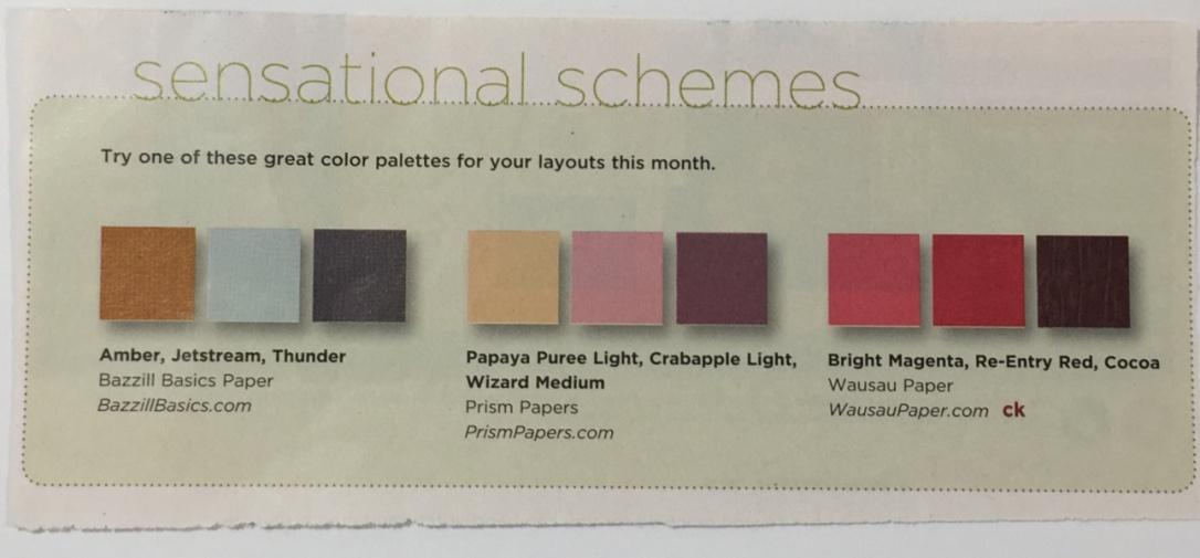 creating keepsakes palette